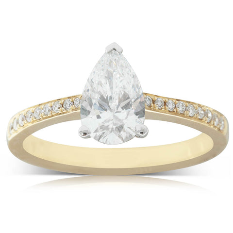 18ct Yellow & White Gold 1.01ct Diamond Ring - Walker & Hall