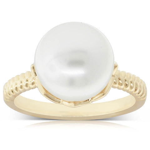 18ct Yellow Gold 11.2mm South Sea Pearl Selene Ring - Walker & Hall
