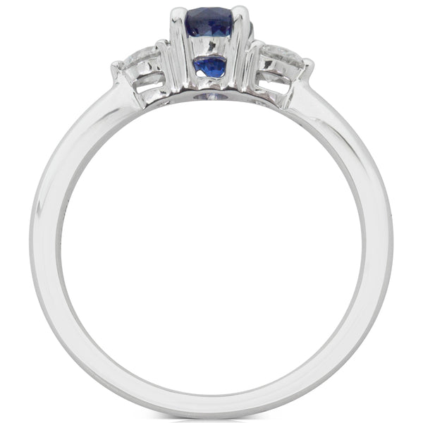18ct White Gold .74ct Sapphire & Diamond Ring - Walker & Hall