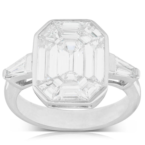 18ct White Gold 2.82ct Diamond Cluster Ring - Walker & Hall