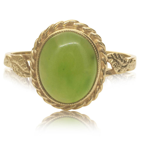 Deja Vu 9ct Yellow Gold Greenstone Ring - Walker & Hall