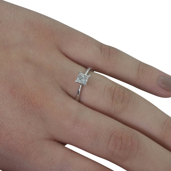 18ct White Gold .67ct Diamond Royale Ring - Walker & Hall