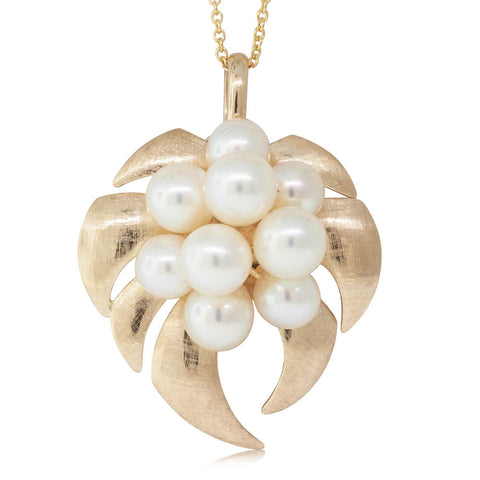 Deja Vu 14ct Yellow Gold Pearl Pendant - Walker & Hall