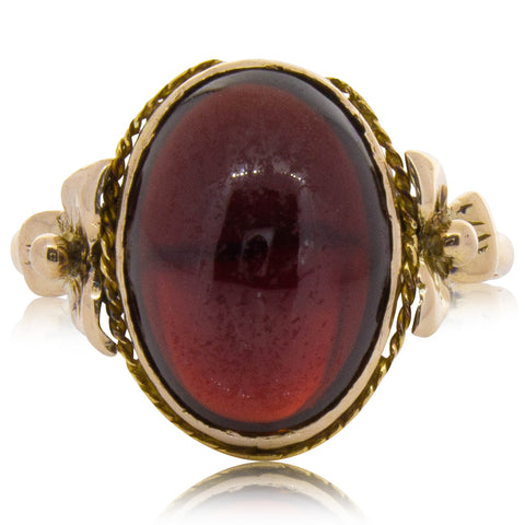 Deja Vu 9ct Yellow Gold Garnet Ring - Walker & Hall