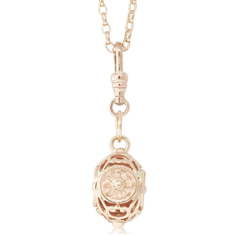 Deja Vu 9ct Rose Gold Filigree Pendant - Walker & Hall