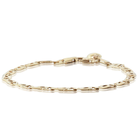 Deja Vu 9ct Yellow Gold Fancy Link Bracelet - Walker & Hall