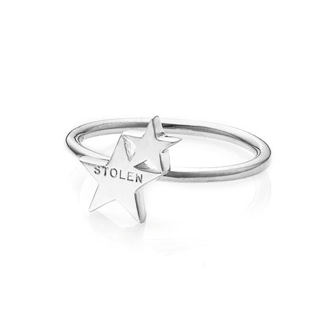 Stolen Girlfriends Club Double Star Ring - Walker & Hall
