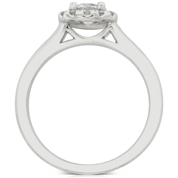 18ct White Gold .50ct Diamond Eclipse Ring - Walker & Hall