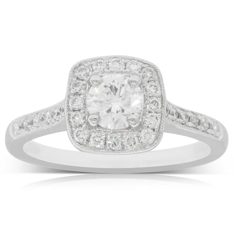 Platinum .50ct Diamond Aurora Ring - Walker & Hall