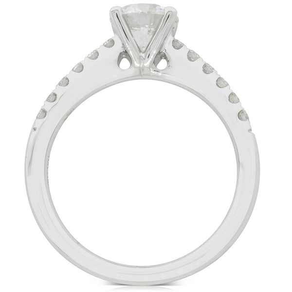 18ct White Gold 1.00ct Diamond Meridien Ring - Walker & Hall
