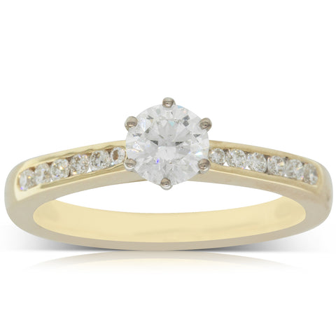 18ct Yellow Gold .51ct Diamond Avalon Ring - Walker & Hall