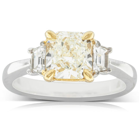 18ct White & Yellow Gold 1.80ct Diamond Ring - Walker & Hall