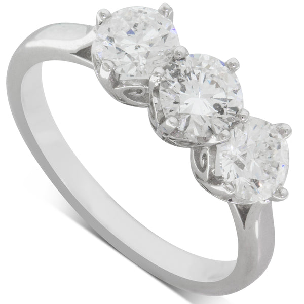 18ct White Gold 1.40ct Diamond Coronado Ring - Walker & Hall