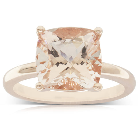 14ct Rose Gold 3.76ct Morganite Honey Ring - Walker & Hall