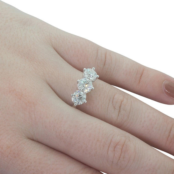 18ct White Gold 1.57ct Diamond Coronado Ring - Walker & Hall