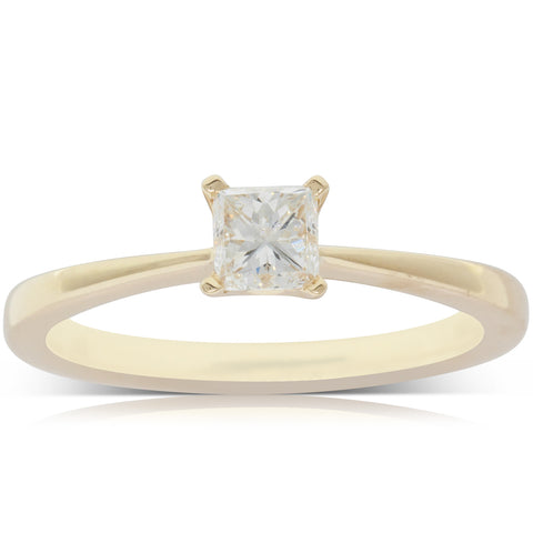 18ct Yellow Gold .50ct Diamond Royale Ring - Walker & Hall