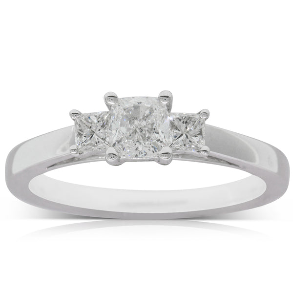 18ct White Gold .51ct Diamond Olympus Ring - Walker & Hall