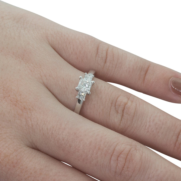 18ct White Gold .50ct Diamond Olympus Ring - Walker & Hall
