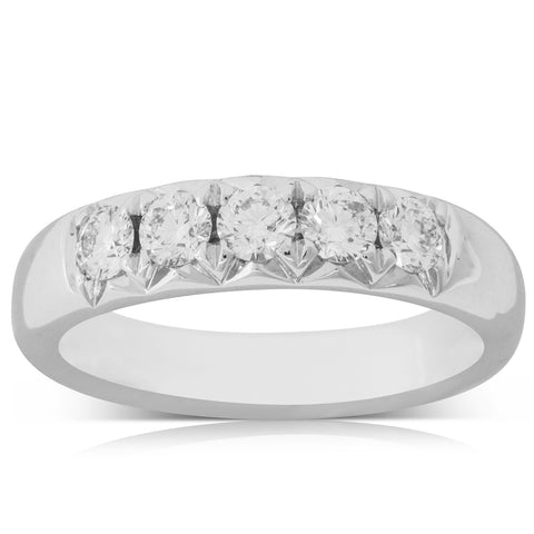 18ct White Gold .66ct Diamond Ring - Walker & Hall