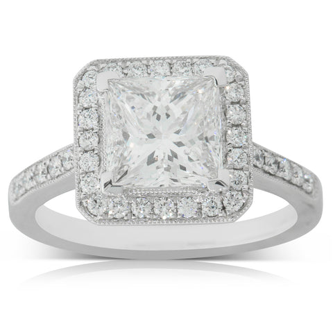 18ct White Gold 2.40ct Diamond Mandalay Ring - Walker & Hall