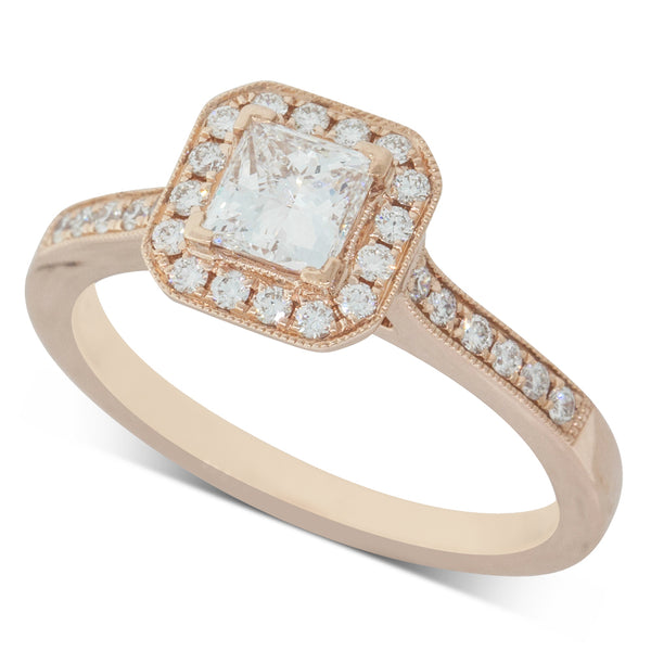 18ct Rose Gold .59ct Diamond Mandalay Ring - Walker & Hall