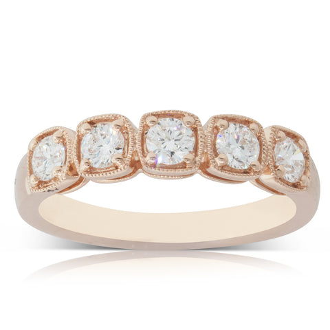 18ct Rose Gold .61ct Diamond Ring - Walker & Hall