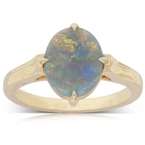 18ct Yellow Gold 1.21ct Opal Ring - Walker & Hall
