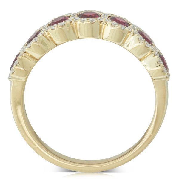 18ct Yellow Gold .99ct Ruby & Diamond Ring - Walker & Hall