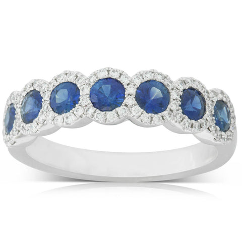 18ct White Gold .93ct Sapphire & Diamond Ring - Walker & Hall