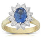 18ct White & Yellow Gold 1.72ct Sapphire & Diamond Ring - Walker & Hall
