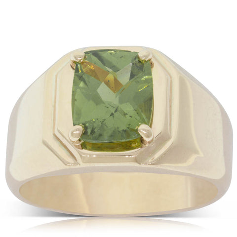 Vintage 14ct Yellow Gold 3.60ct Peridot Ring - Walker & Hall