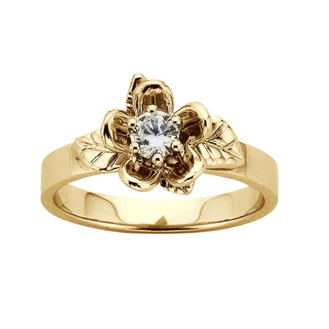 Karen Walker 9ct Yellow Gold .25ct Single Posie Ring - Walker & Hall