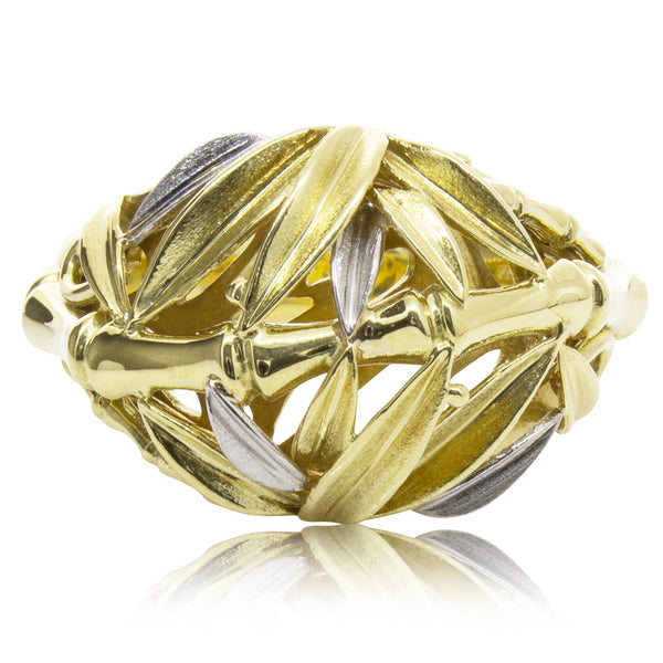 Deja Vu 18ct Yellow and White Gold Ring - Walker & Hall