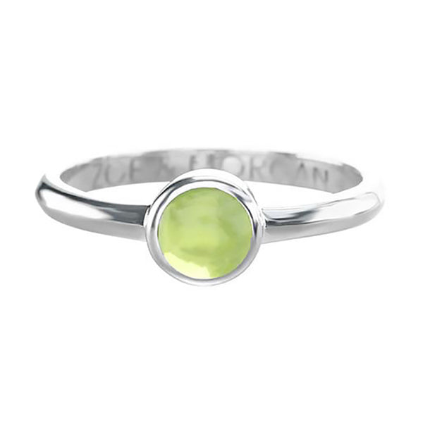 Zoe & Morgan 5mm Cabuchon Ring - Sterling Silver & Peridot