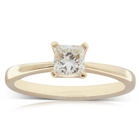 18ct Yellow Gold .54ct Diamond Royale Ring - Walker & Hall
