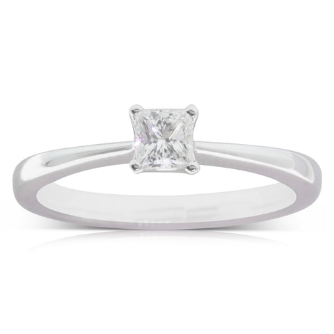 18ct White Gold .32ct Diamond Royale Ring - Walker & Hall
