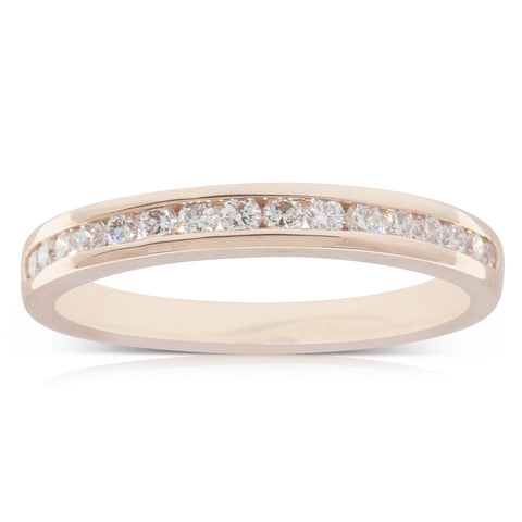 18ct Rose Gold .28ct Diamond Ring - Walker & Hall