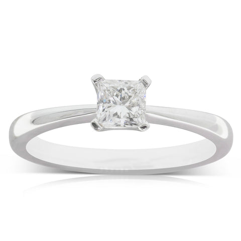 18ct White Gold .50ct Diamond Royale Ring - Walker & Hall