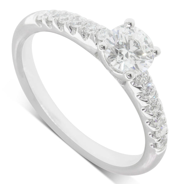 18ct White Gold .61ct Diamond Meridien Ring - Walker & Hall