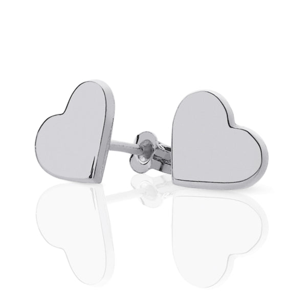 Meadowlark Candy Heart Studs - Sterling Silver - Walker & Hall