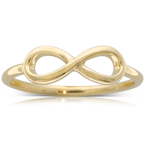 9ct Yellow Gold Infinity Ring - Walker & Hall
