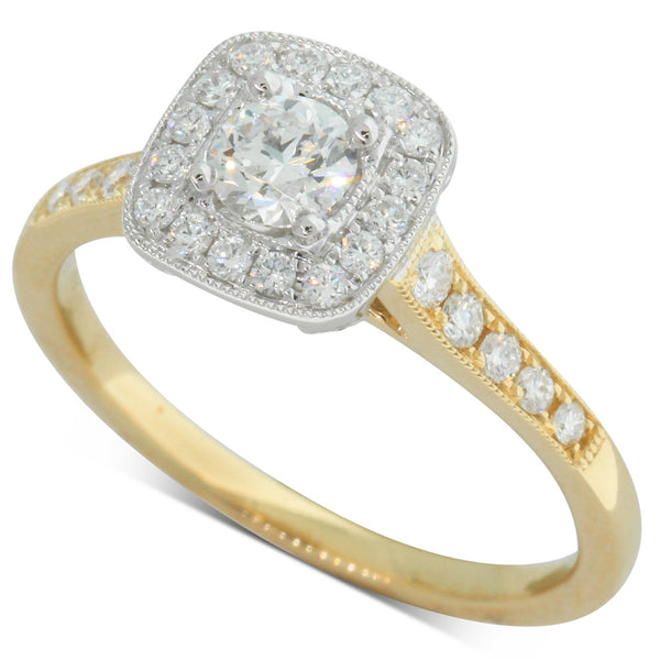 18ct Yellow & White Gold .35ct Diamond Aurora Ring