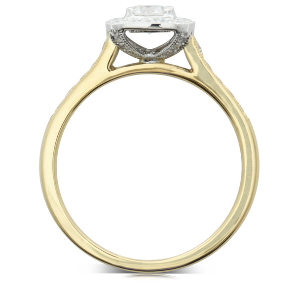 18ct Yellow Gold .30ct Diamond Aurora Ring - Walker & Hall