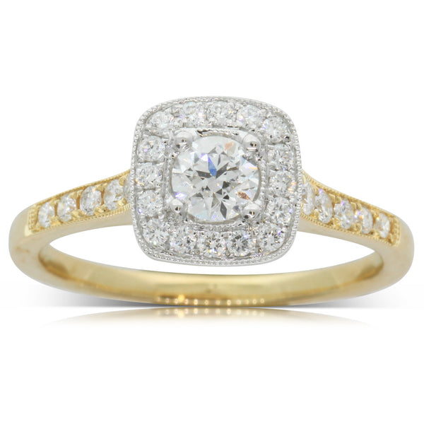 18ct Yellow Gold .30ct Diamond Aurora Ring