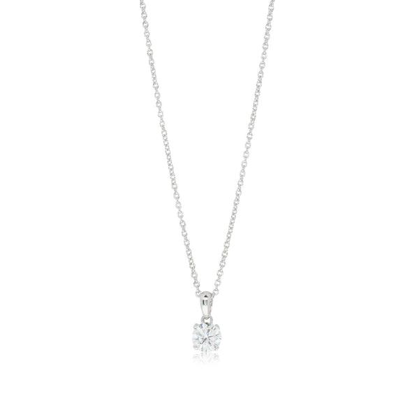 18ct White Gold .51ct Diamond Blossom Pendant