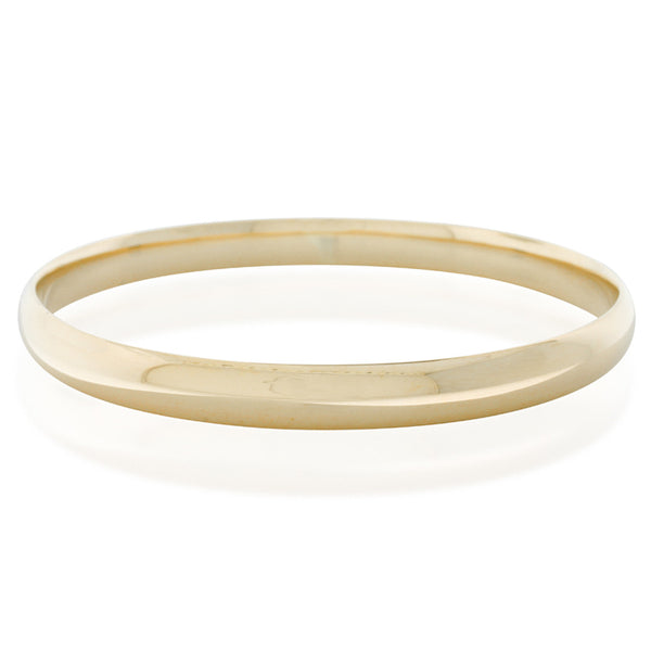 9ct Yellow Gold 6.5mm Bangle - Walker & Hall