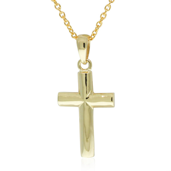 9ct Yellow Gold Cross Pendant - Walker & Hall