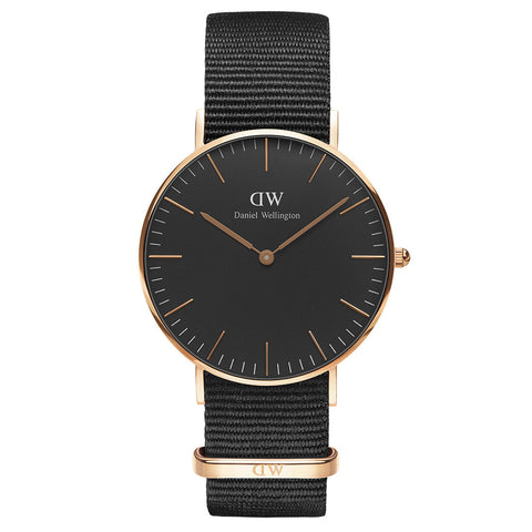 Daniel Wellington Classic Black Cornwall 36mm Watch - Walker & Hall