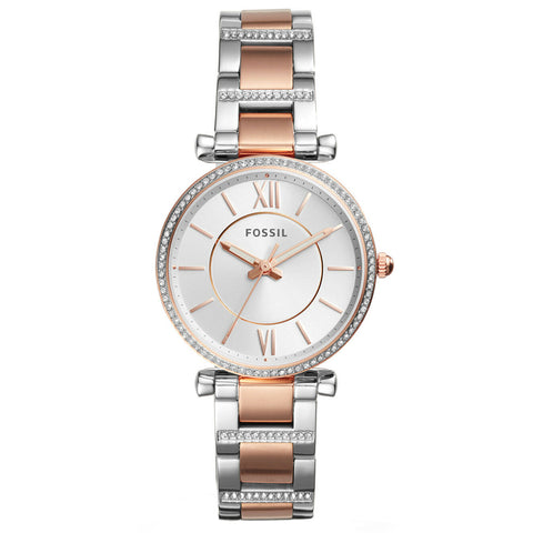 Fossil Carlie ES4342 Two-Tone Watch - Walker & Hall