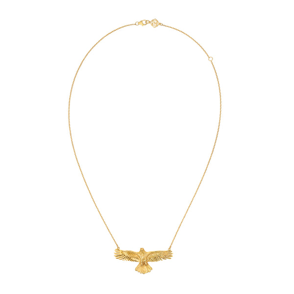 Zoe & Morgan Eagle Necklace - Gold Plated - Walker & Hall